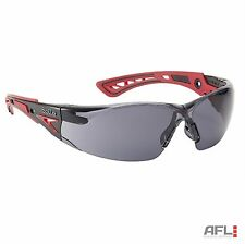 Bolle Rush+ Anti-Fog Anti-Scratch Safety Spectacles Glasses - Smoke Lens
