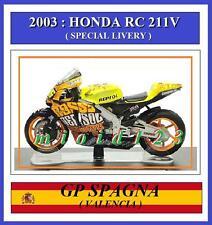 1/18 - ROSSI - HONDA RC211V - 2003 Valencia - Die-cast [ Austin Powers Livery ]