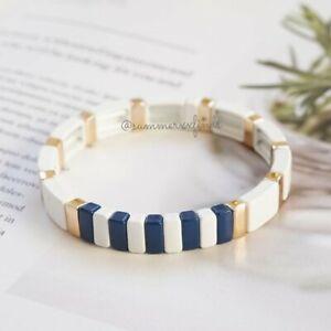 Roxanne Assoulin Sport Bracelet White Navy