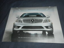 2008 Mercedes Benz C Class USA Market Color Brochure Prospekt