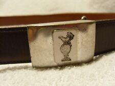 New listing Genuine antique Bsa Spencer solid sterling silver belt buckle (Usa)