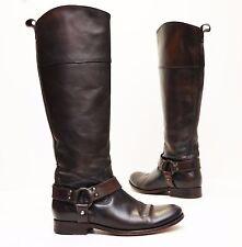 FRYE Melissa Harness Inside Zip Tall Brown Leather Boots Sz 7 B 76929 $438 EUC