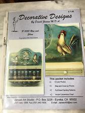 Folk Art Pattern Decorative Painting Packet David Jansen/Rooster-New