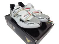 Vittoria THL Carbon Sole Triathlon Cycling shoe 42.5 EU 8.75 US White