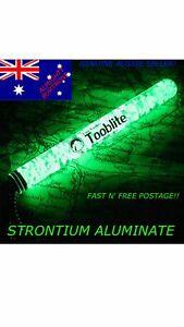 """6"""" UV PAQLITE TOOBLITE Glow In The Dark Strontium Aluminate Survival Light Tube"""