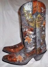 "New Womens Durango RD3030 Metallic 12"" Western Cowboy Cowgirl Boots Size 6 M"