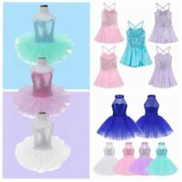 Kid Girl Ballet Leotard Dance Dress Ballerina Tutu Skirt Dancewear Fairy Costume