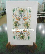 """5"""" x 8"""" Marble Wall Plate marquetry Mother Of Pearl Inlaid Art Kitchen Decor"""