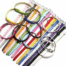 10pcs/lot Colorful DIY Leather Strap Jewelry Findings for Bracelet Making
