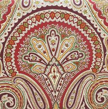 RALPH LAUREN Paisley QUEEN DUVET COVER SET COTTON Floral RED ORANGE YELLOW GREEN