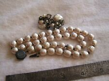 Beautiful Vintage Miriam Haskell Faux Pearl  Necklace and Earrings