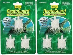 Tetra Turtle Reptoguard Reptomin 6 Pack Health Conditioner Sulfa Blocks Reptile