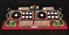 Mortal Kombat 1 Arcade Control Panel Overlay 6 Button MK1 CPO Mame Midway