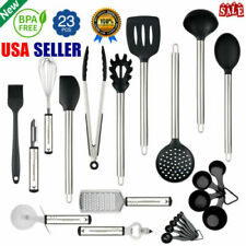23pcs Stainless Steel Kitchen Utensil Set Heat Resistant Cooking Tools Gadgets