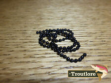 HARELINE BEAD CHAIN EYES SMALL BLACK - NEW NYMPH / WET FLY TYING MATERIALS
