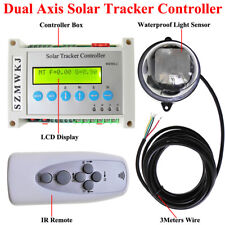 LCD Electronic Dual Axis Solar Tracker Controller DIY Solar Panel Track Kits IG