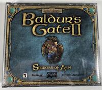 Baldur's Gate 2 II: Shadows of Amn (PC, 2000) 4 Disc Set VG NM Complete Rare