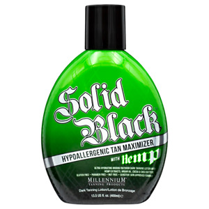 TANNING LOTION - SOLID BLACK HYPOALLERGENIC TAN MAXIMIZER WITH HEMP - 400ml