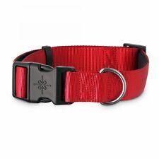 Good2Go Adjustable Red Nylon Dog Collar Heavy duty stitching Large / Extra Large