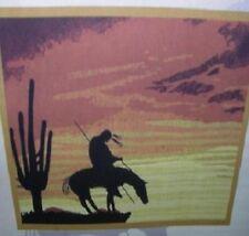 New End of the Trail Fleece Throw Gift Blanket Southwest Cowboy SOFT Western NIP
