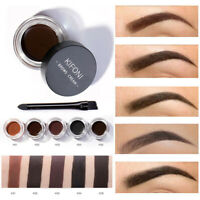 5 Colors Eyebrow Cream Tint Waterproof Pomade Gel Enhancer Eye Brow w/ Brush New