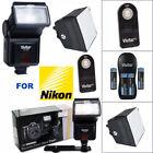 VIVITAR ZOOM FLASH  CHARGER  PRO HD DIFFUSER  REMOTE FOR NIKON D3400 D5600