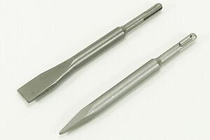 NEU 2x SDS Meisel 200mm Meißelsatz  Meißelset Flachmeißel Stahl