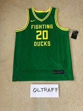 NWT Oregon Ducks Nike Sabrina Ionescu Jersey #20 with IRON ON NAMEPLATE