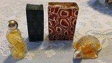 Vintage Avon Occur! Sea Horse Miniature & Sweet Honesty Treasure Turtle Cologne