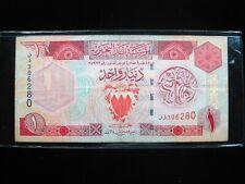 BAHRAIN 1 DINAR 1973 CIRC SHARP 80# BANK CURRENCY BANKNOTE MONEY