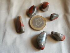 Heliotropo, piedra semipreciosa ( lote de 6)