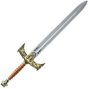 Large Plastic Toy Medieval Knight King Lion Heart Sword LARP Accessory Weapon