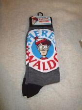 Where's Waldo Novelty Socks fits shoe size 6-12 Mens NEW