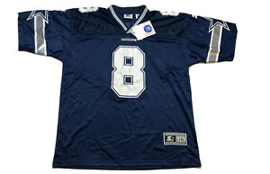 NWT VTG Starter Dallas Cowboys Troy Aikman Jersey Mens L / XL Blue Football 1995