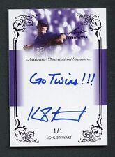 "2013 Leaf Trinity Purple Kohl Stewart Inscription "" Go Twins "" AUTO 1/1"