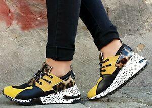 STEVE MADDEN Schuhe CLIFF SM11000185-04005-713 Yellow Multi Echtleder Sneaker