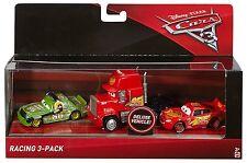 Disney Pixar Cars 3 DIE-CAST Racing 3-Pack-Chick Hicks, Mack Y Mcqueen