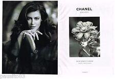 PUBLICITE ADVERTISING 105  2011  CHANEL  joaillerie ( 2p) bague BOUCE DE CAMELIA