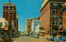 Wichita Falls Texas~Eighth Street~Pawn Shop MONEY~Miller Drug~Hub~1940-50s Cars