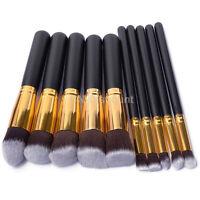 10Pcs Brushes Cosmetic Makeup Brush Set Eyeshadow Foundation Blush  Professional