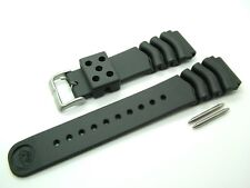 SEIKO Z22 GENUINE DIVERS RUBBER WATCH STRAP & SPRING BARS 22mm