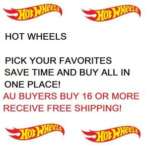 HOT WHEELS FORD HONDA TOYOTA DODGE CHEVY AUDI BMW AU BUYER FREE SHIPPING FOR 16+