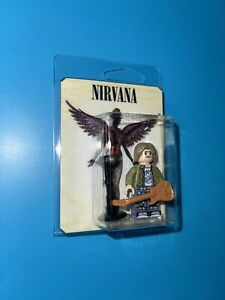 Kurt Cobain Nirvana Custom Packaged Mini-Figure Musician Seattle Grunge Band