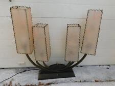 RARE MID CENTURY MODERN  ATOMIC VINTAGE 50s MAJESTIC LAMP W/FIBERGLASS SHADES