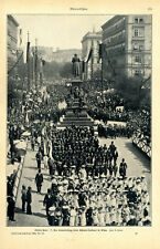 Schiller-Fête Enfants Défilé lors de Schiller-Monument à Vienne de 1905
