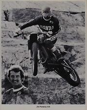 1978 JIM POMEROY HONDA Vintage MOTOCROSS PRINT PHOTO RC250 RC500