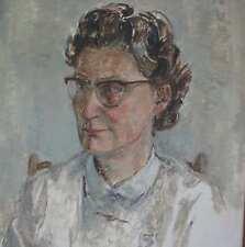 Flögerhöfer Paul 1905-1984 Portrait einer Dame mit Brille Remscheid Wuppertal