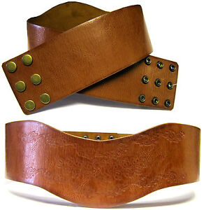 (B239/40) Retro Pattern Fashionable Faux Leather Wide Belt For Ladies *****