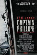 CAPTAIN PHILLIPS ORIGINAL 27x40 MOVIE POSTER (2013) HANKS & ABDI