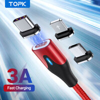 TOPK 3A Fast Charging Magnetic Cable Led Magnet for Android Micro USB Type C